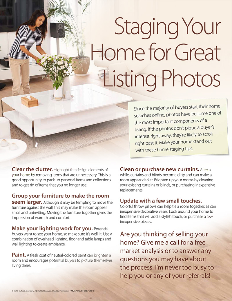 Staging for Photos